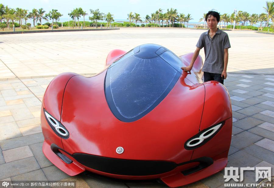 Китаец построил электрический суперкар китай, самоделка, своими руками, электромобиль