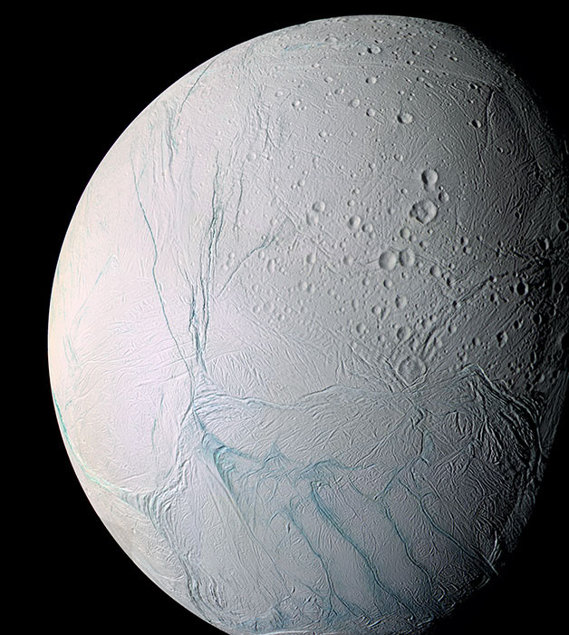 Ледяной спутник Сатурна Энцелад. кассини, космос, мир, сатурн