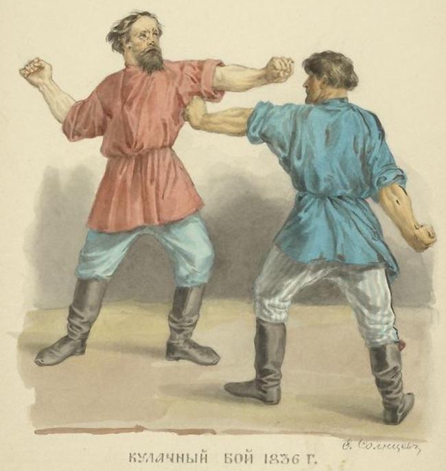 Устраивали кулачные бои история, русь, традиции