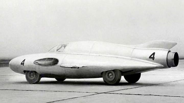 5. ГАЗ-ТР «Стрела» с реактивным самолетным двигателем, 1954 год. авто, история, концепты, ссср